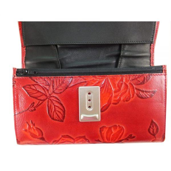 8549DG1A große déqua G9 Geldbörse Rose rot