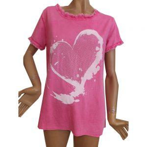 8554WT1 Tshirt Gr 36-40 in weiß u pink