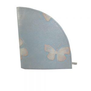 8585DG1B déqua Unikat Geldbörse Schmetterling hellblau