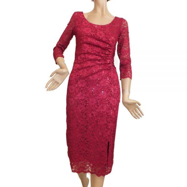 8605SK1 Kleid dunkelrot Gr 38