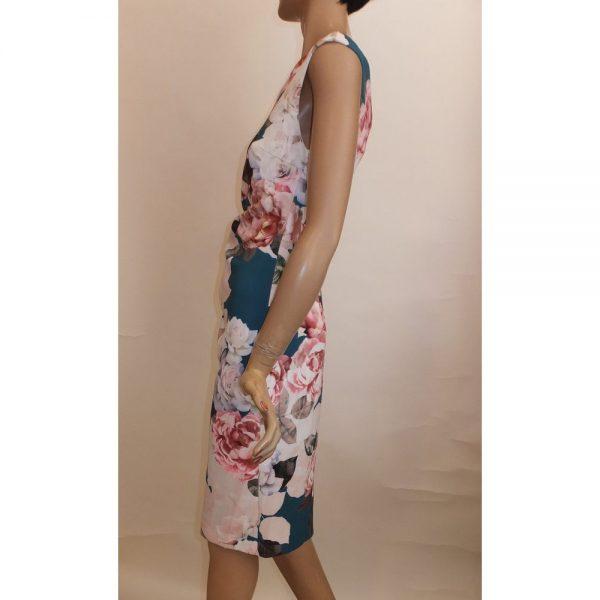 8607SK1 Kleid Blumen Gr 42 u 44