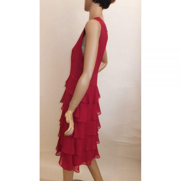 8611SK1 Kleid dunkelrot Gr 50