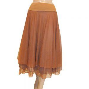 8660LR1 Petticoat-Rock Lalamour caramel Gr 36-40