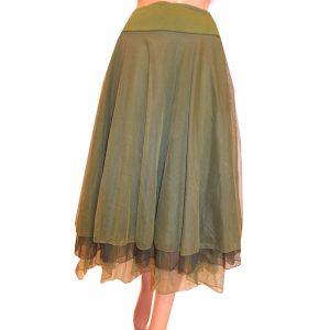 8661LR1 Petticoat-Rock Lalamour grün Gr 40